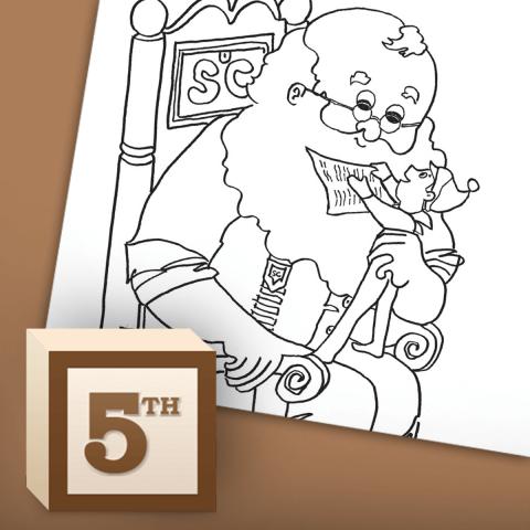 Santa's Coloring Page Nice List