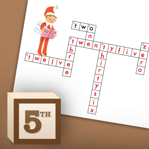 Christmas Math Crossword