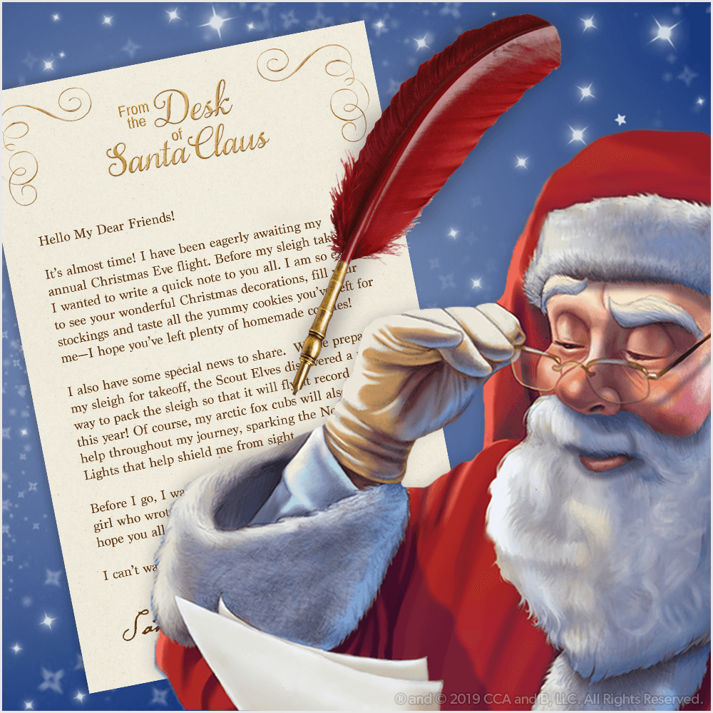 Download A Free Printable Letter From Santa The Elf On The Shelf