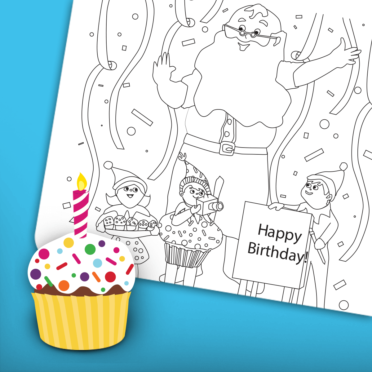 Birthday Coloring Page 1