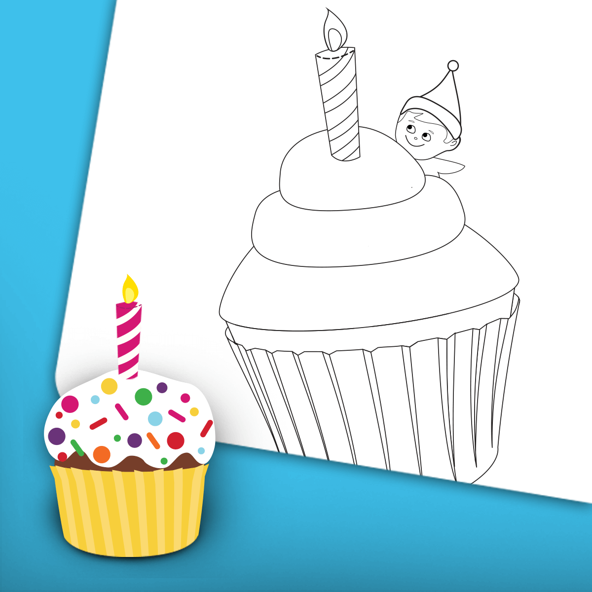 Birthday Coloring Page 2