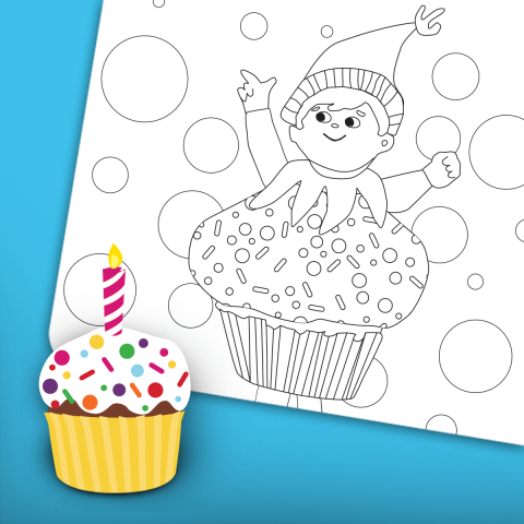 Birthday Coloring Page 3