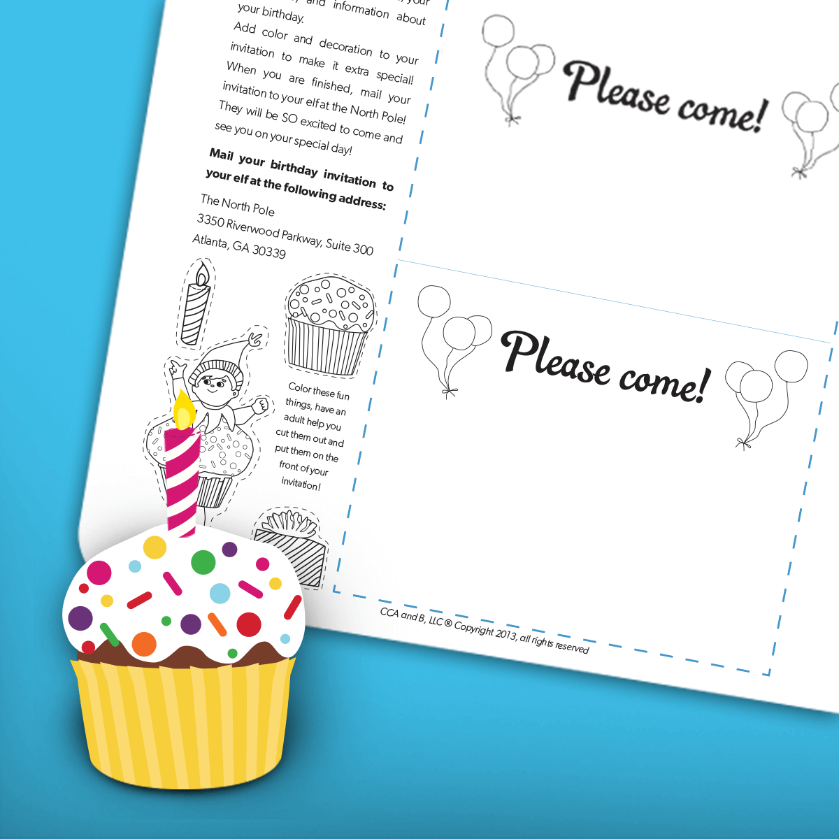 Birthday Elf Invitation