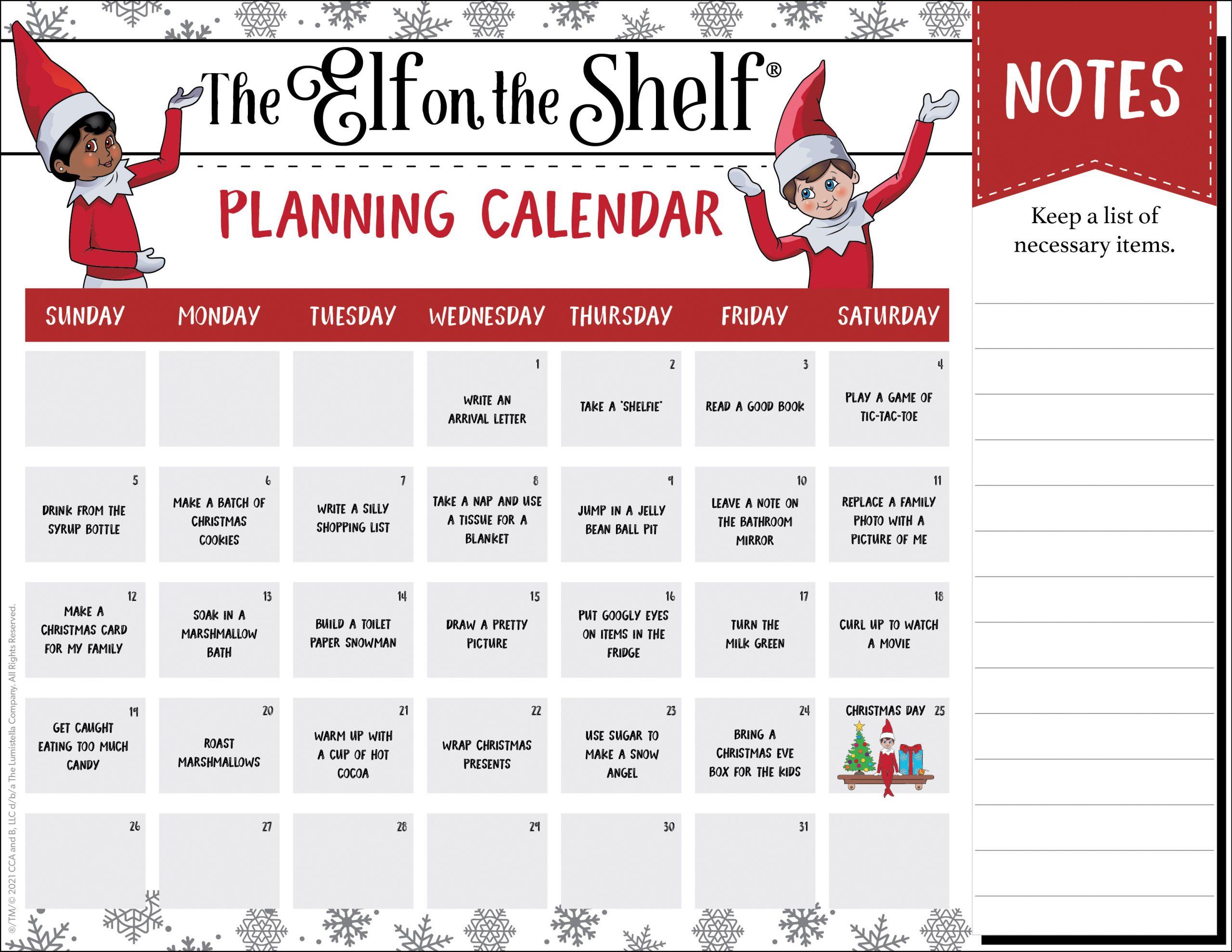 Planning Calendar Template A