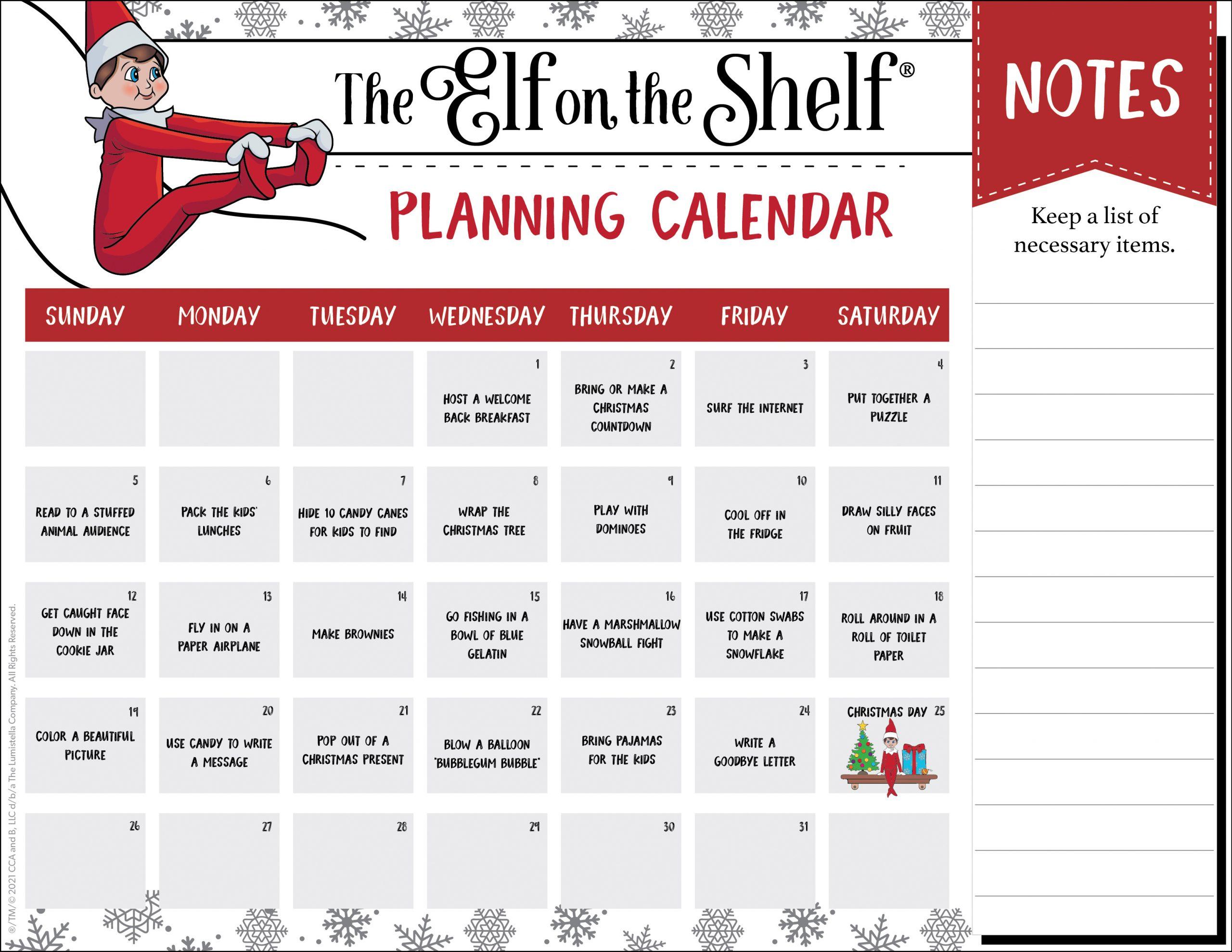 Planning Calendar Template B