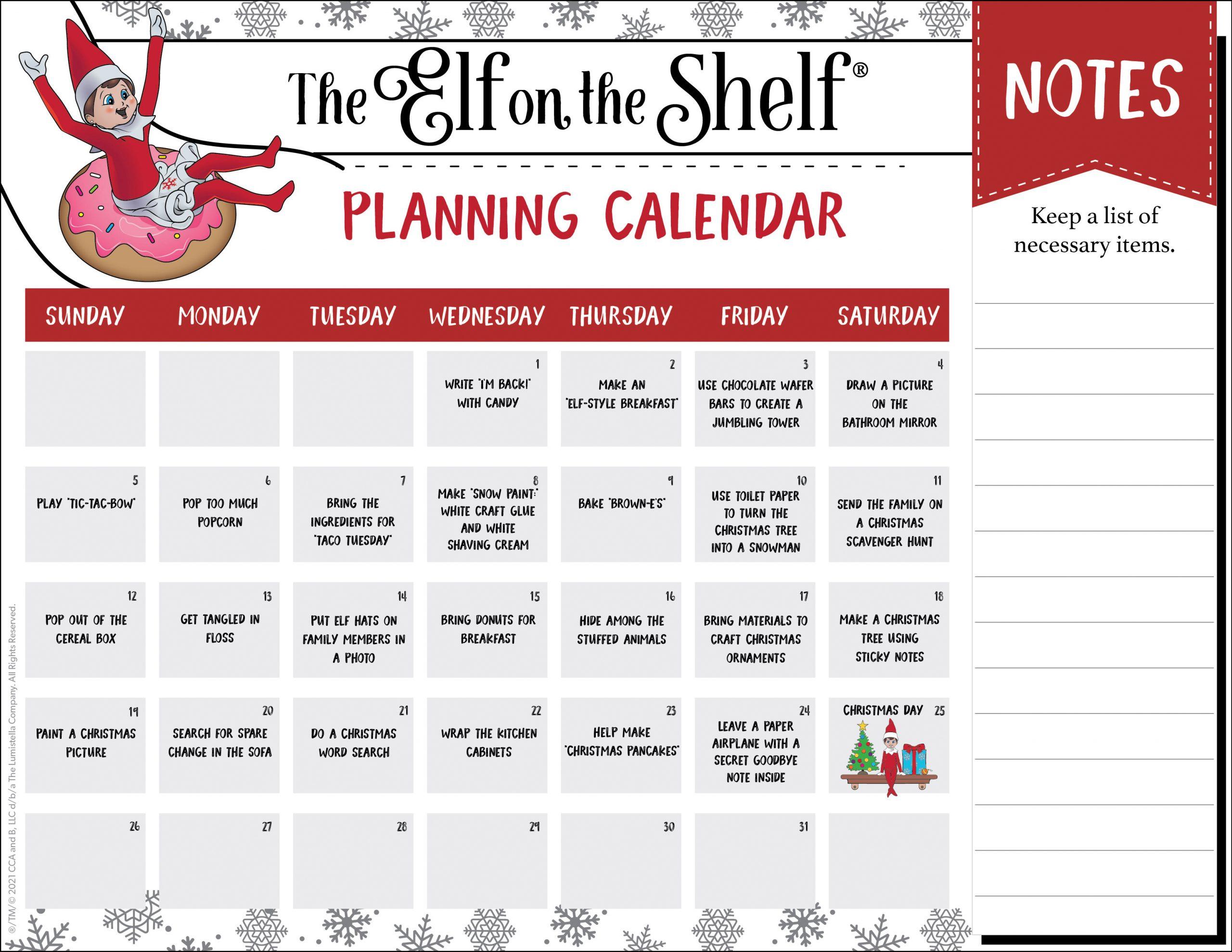 Planning Calendar Template C