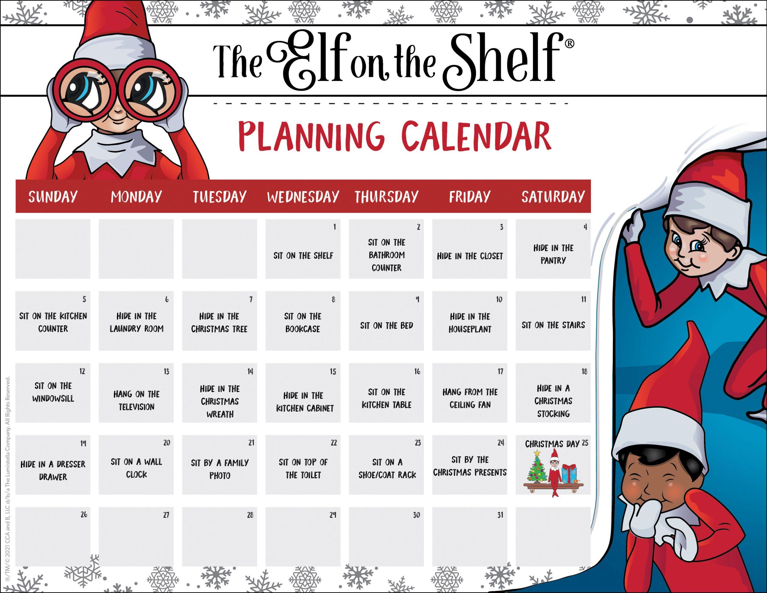 Planning Calendar Template D