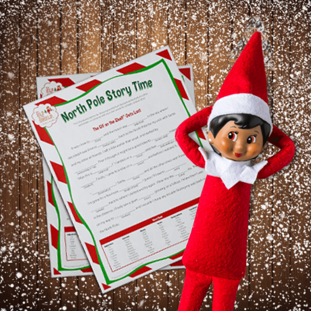 Holiday Fun! Custom PLAYELF magazine for Elf of the Shelf NO blank pages