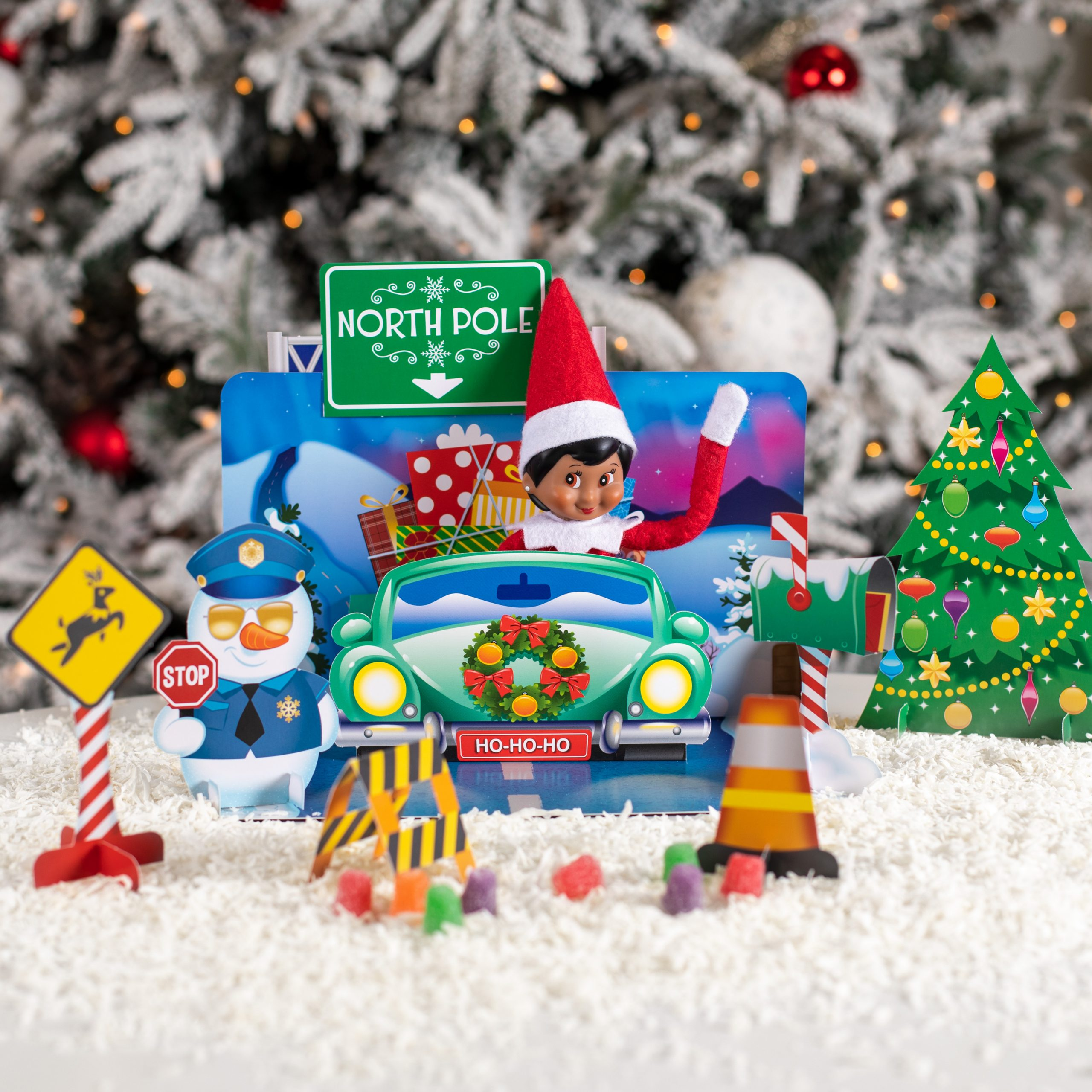 Elf in Christmas Car Ride