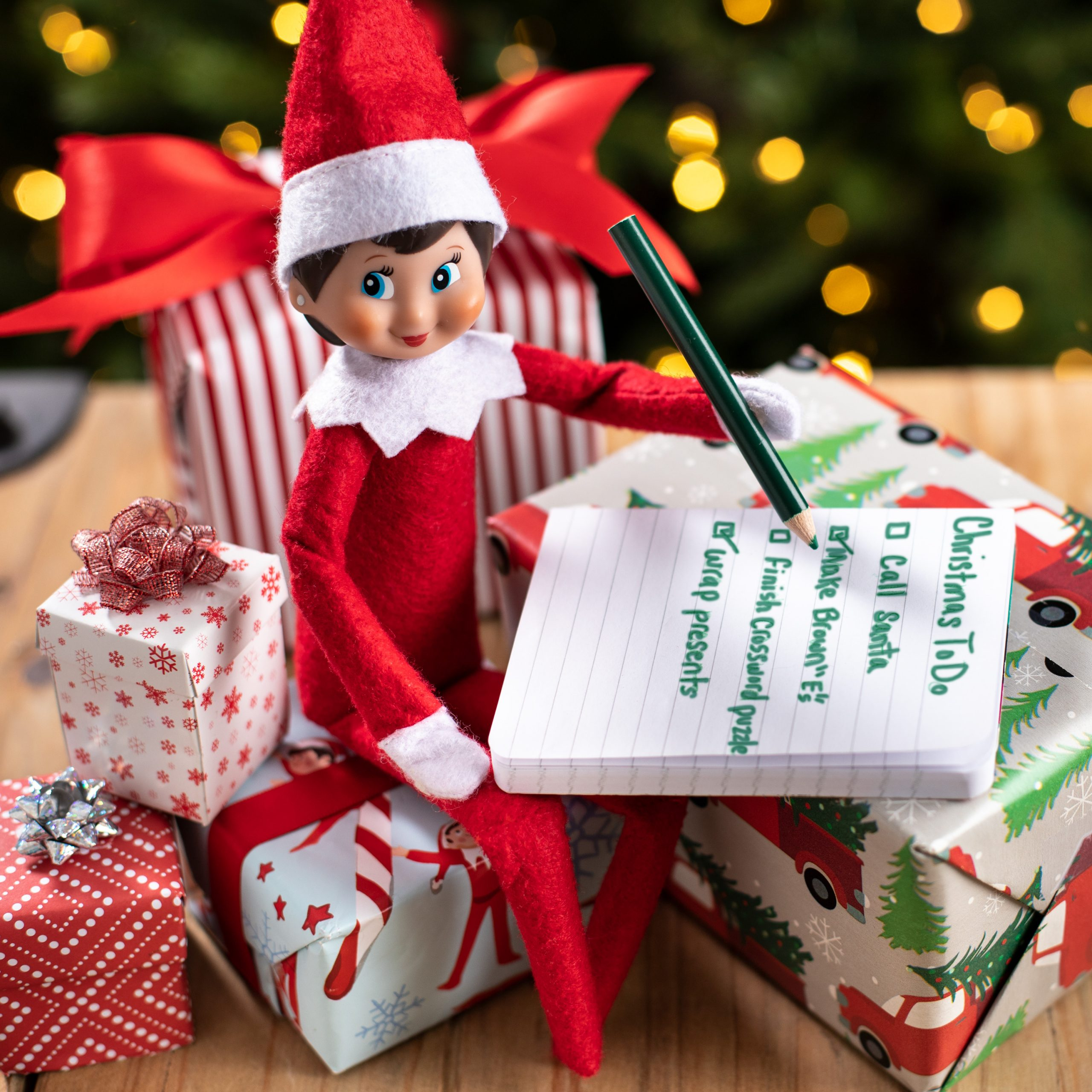 Elf making to-do list