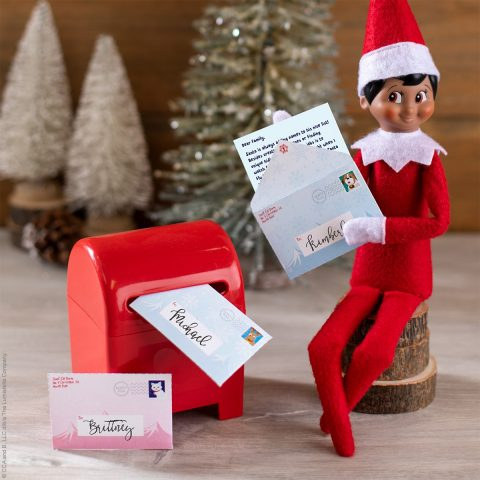 Elf with letters and mailbox