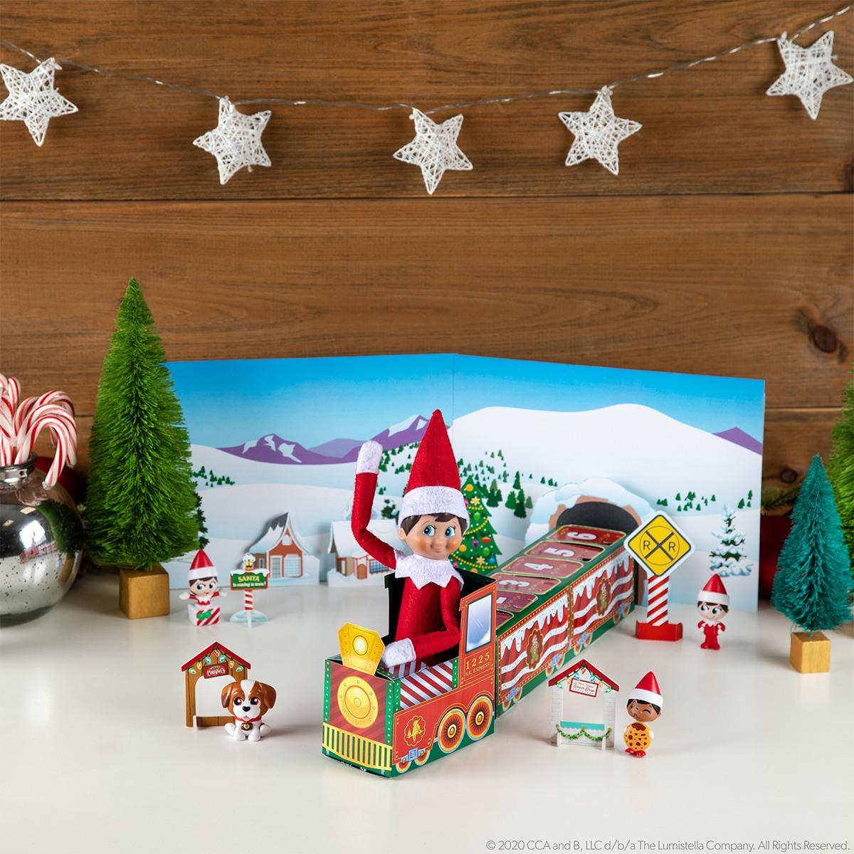 Elf in North Pole Advent Train