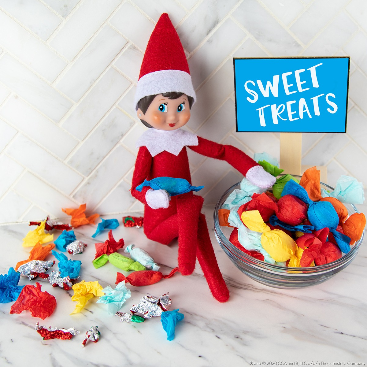 Elf candy and candy wrappers