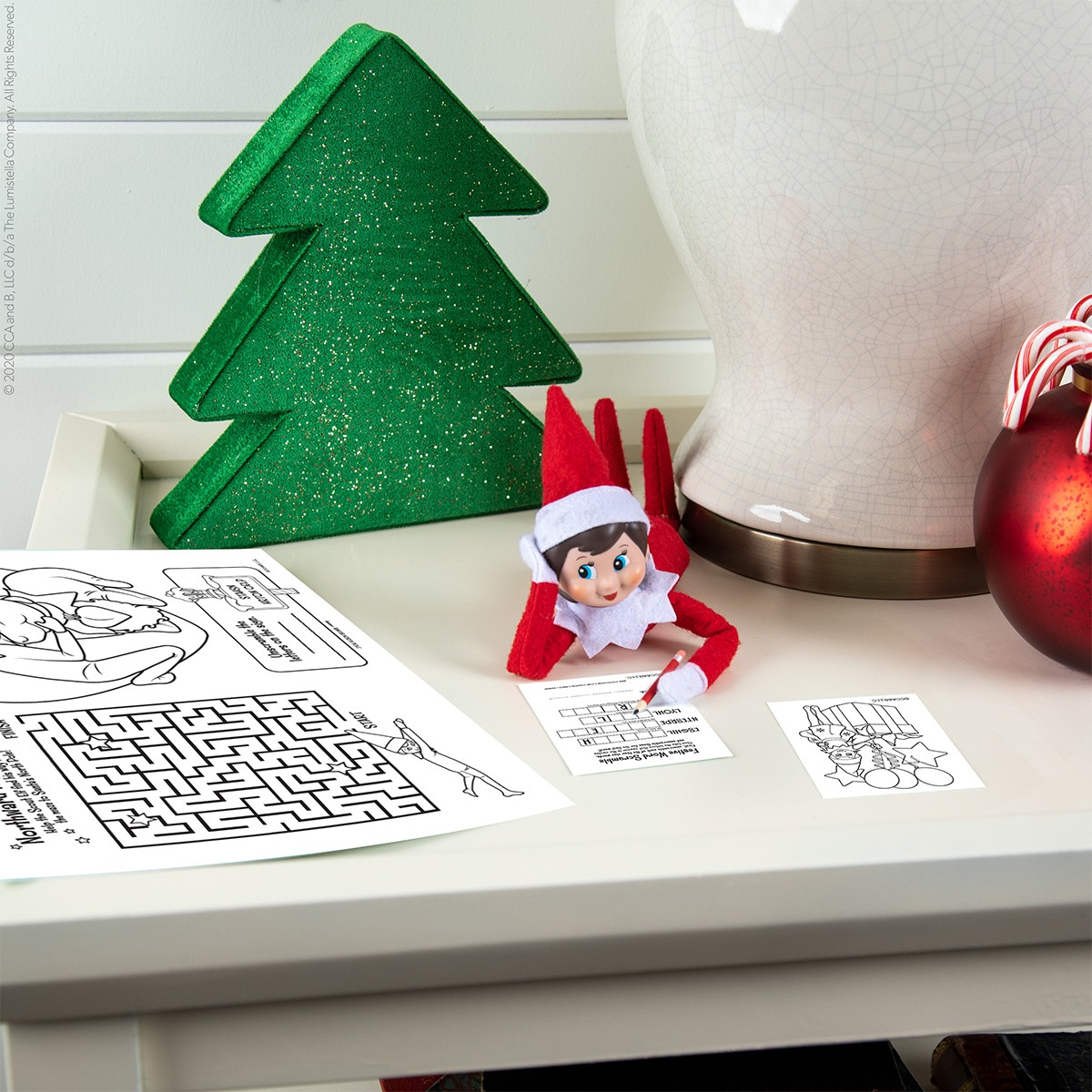 Elf with printable activites
