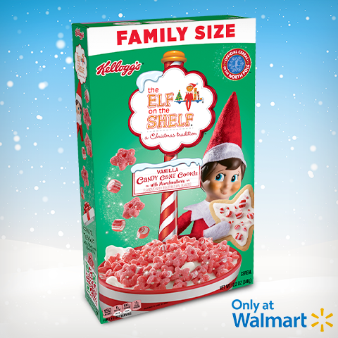 Kellogg's Candy Cane Cereal Box
