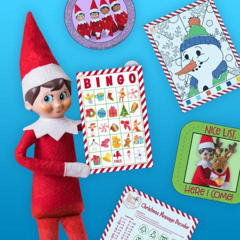 download printable elf on the shelf activities  the elf