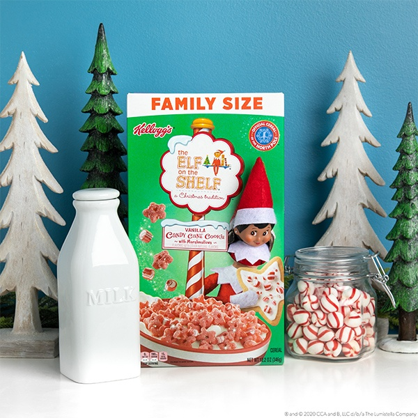 Elf Popping out of cereal box
