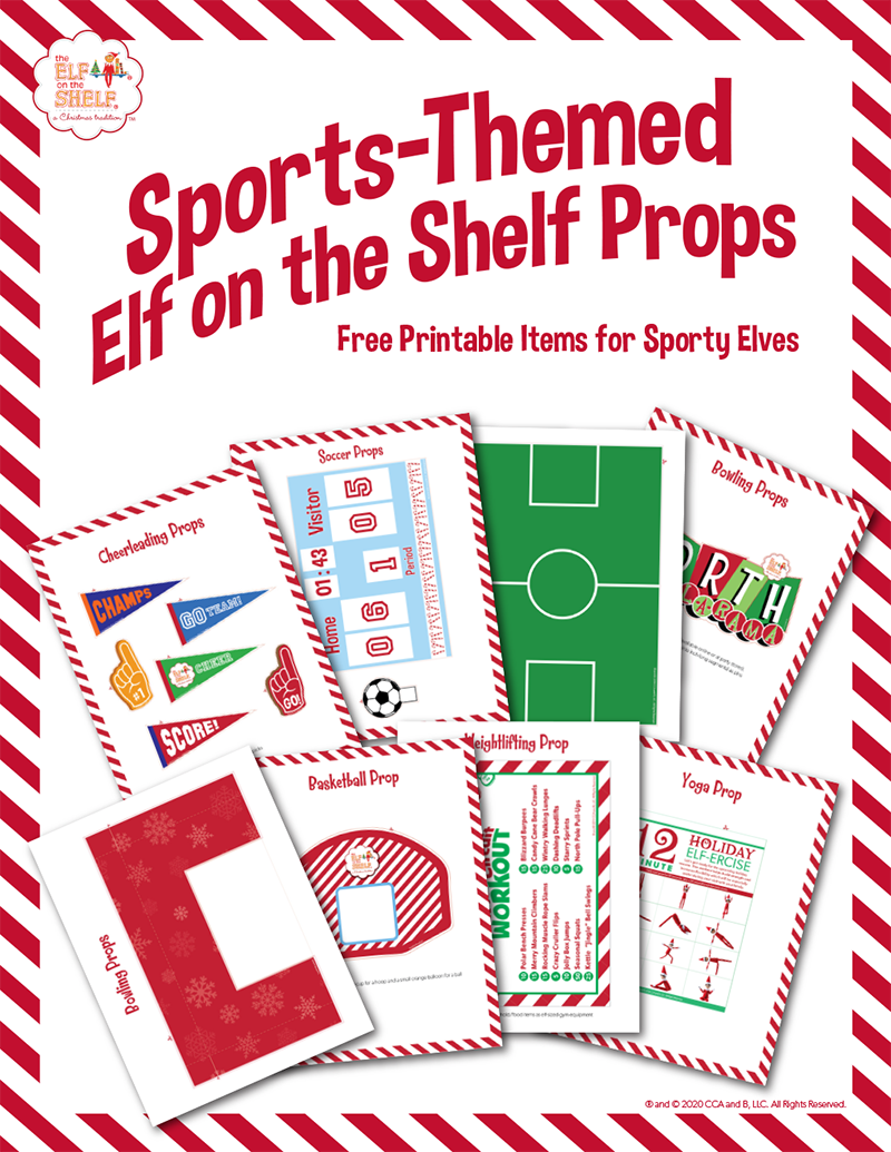 Sports-Themed Elf Props Printable