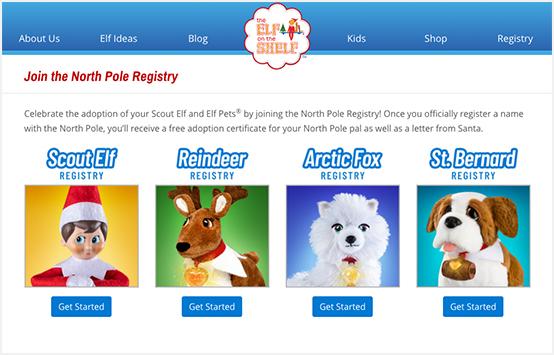Main Registry Webpage