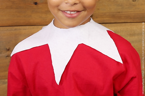 DIY Scout Elf collar