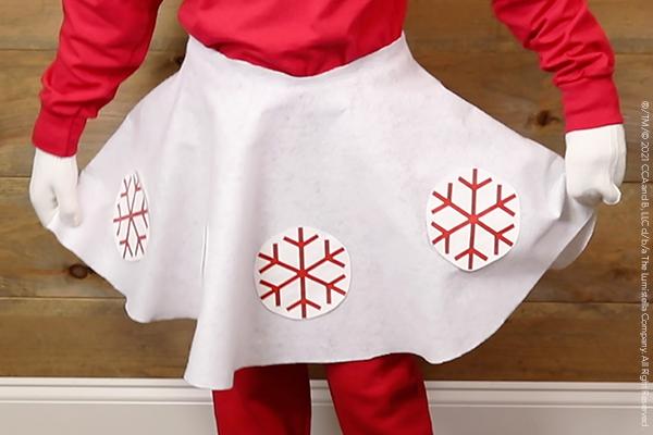 DIY Scout Elf skirt