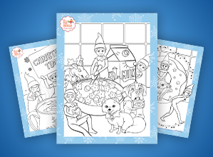 North Pole Breakfast Coloring Pages